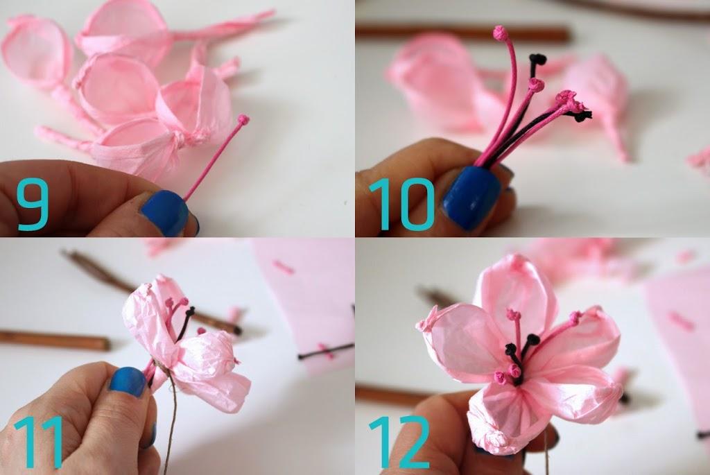 wiosenne kwiaty z papieru