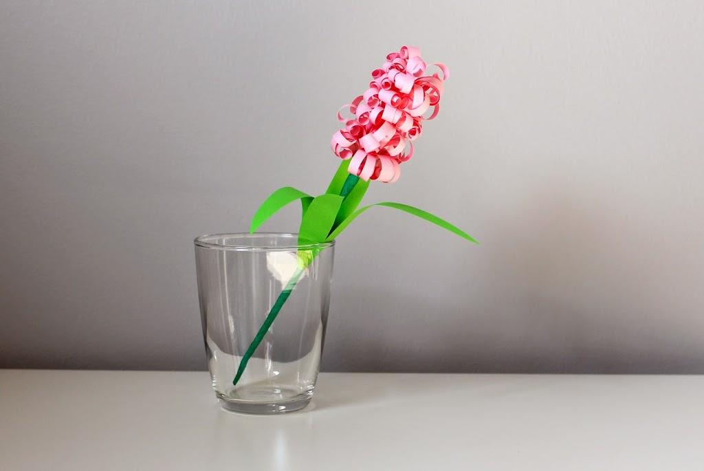 Hiacynty z papieru. Wiosenne kwiaty z papieru