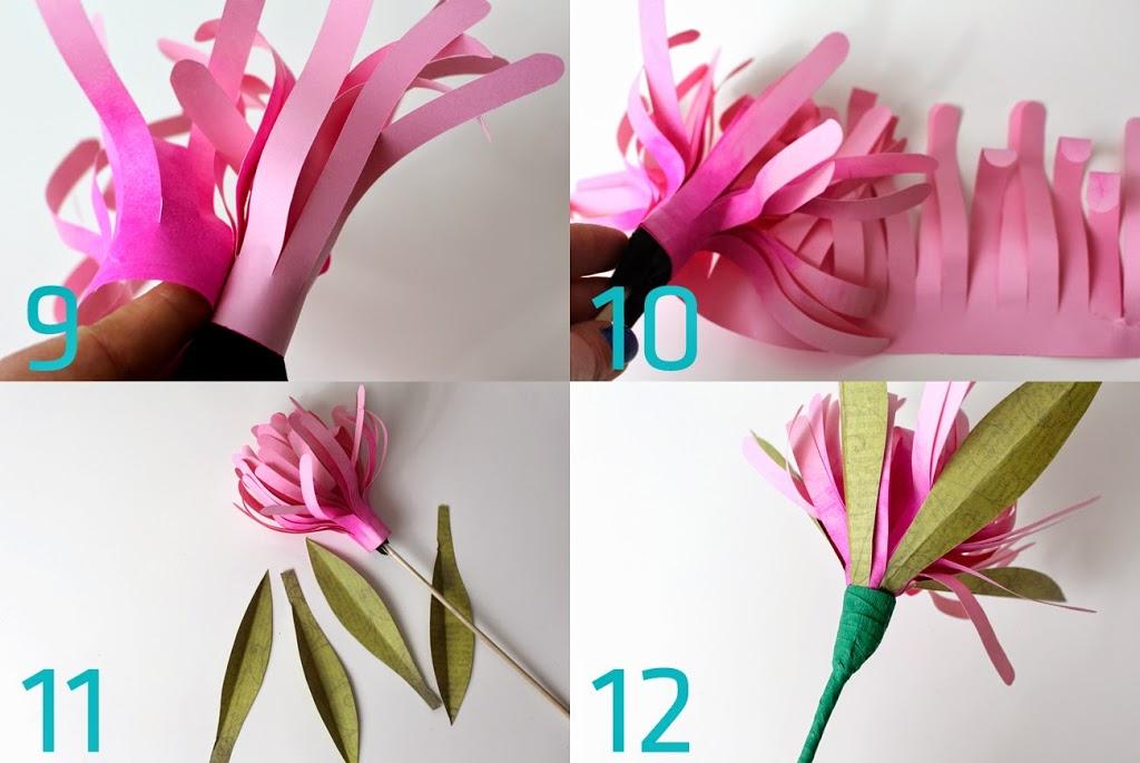 Wiosenne kwiaty z papieru DIY