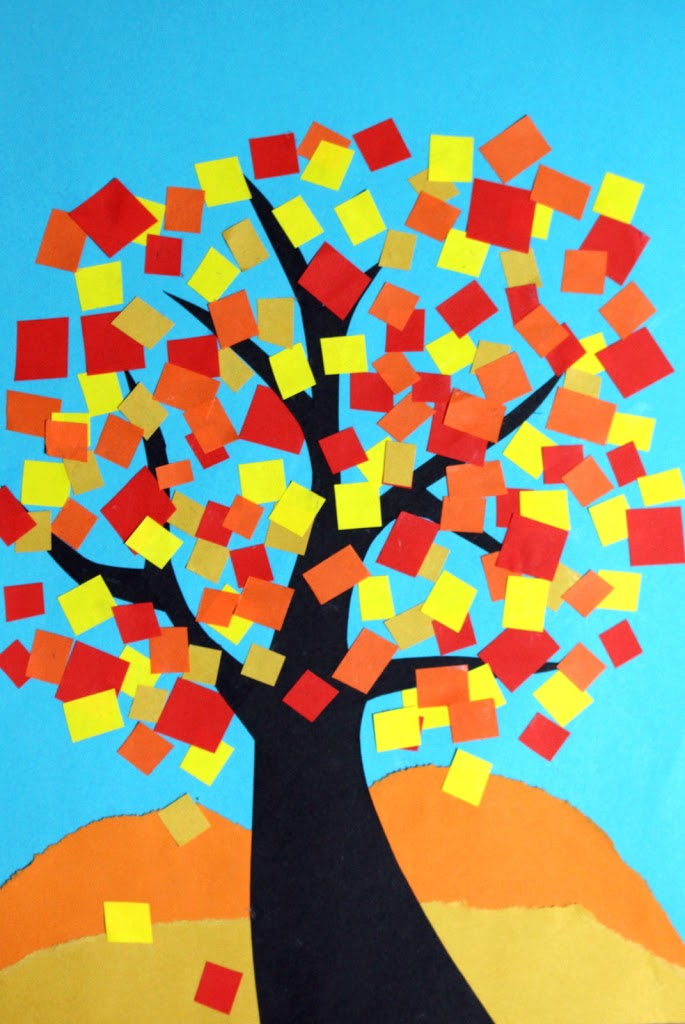 Drzewo jesienne - praca plastyczna