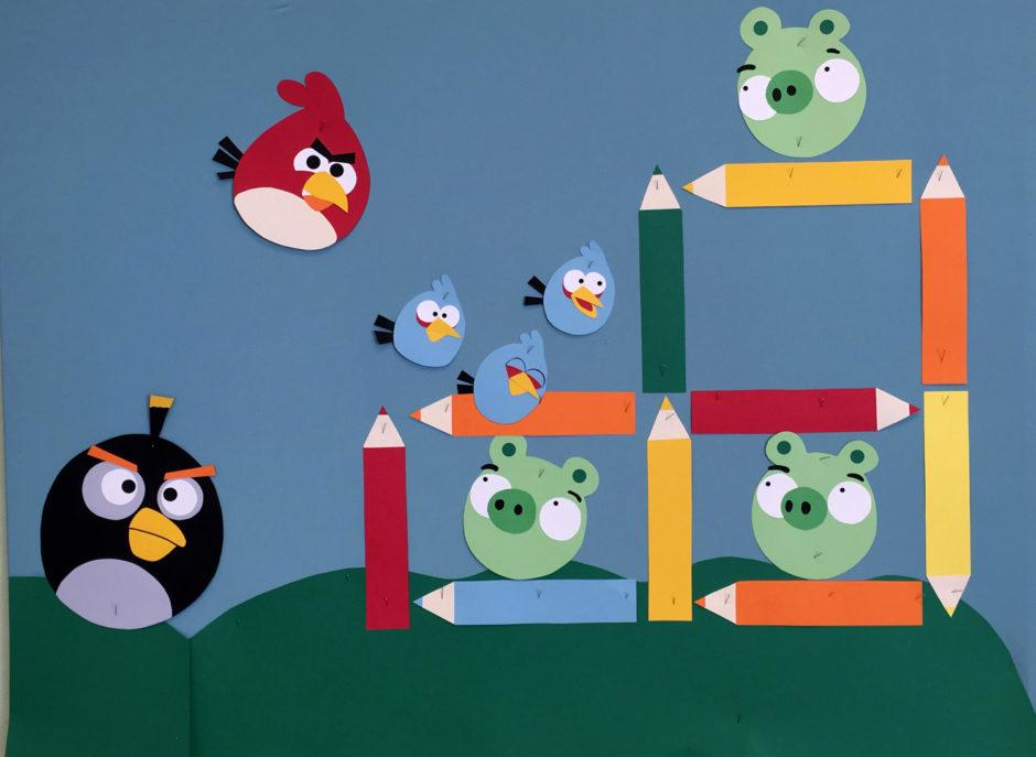 Dekoracja na początek roku szkolnego: Angry Birds
